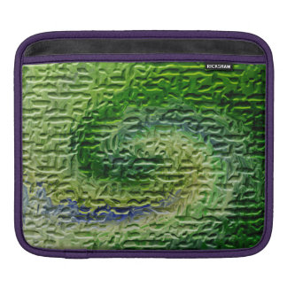 Green Abstract Art Sleeves For iPads