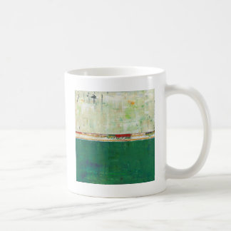 Green Abstract Art Painting Ireland Irish Limerick Coffee Mug