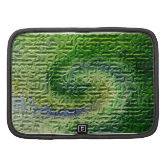 Green Abstract Art Folio Planners