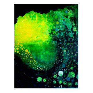 Green Abstract Art Postcard
