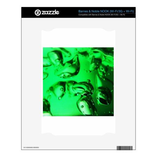 Green Abstract Art Waves Digital Colors, Light Sha NOOK Decals
