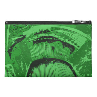 Green Abstract. Travel Accessory Bags