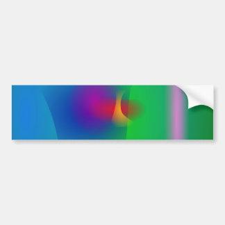 Green Abstract Balance Bumper Sticker