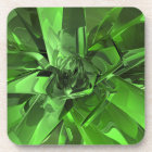 Green Abstract Beverage Coaster