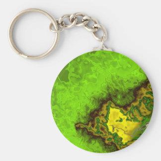 Green Abstract Blob Keychain