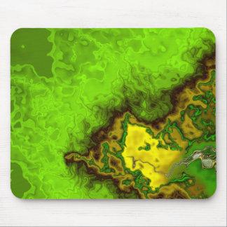 Green Abstract Blob Mousepads