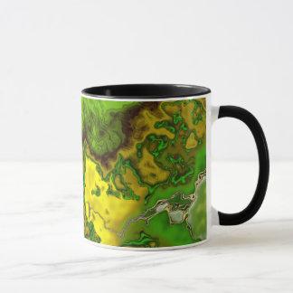 Green Abstract Blob Mug