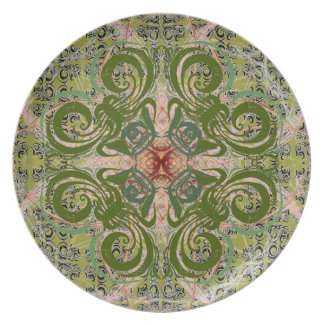 Green Abstract by Alexandra Cook Dinner Plate