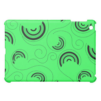 Green Abstract Circle Pern  Case For The iPad Mini