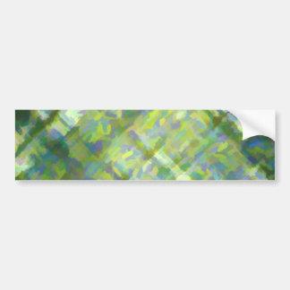 Green Abstract Crisscross Bumper Stickers