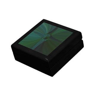 Green Abstract Cross Gift Box