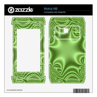 Green abstract Cross pattern Decals For The Nokia N8