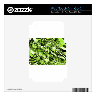 Green abstract decal for iPod touch 4G