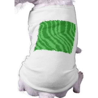 Green Abstract Design. Dog Tshirt