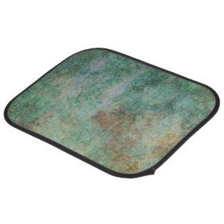 Green Abstract Design Floor Mat