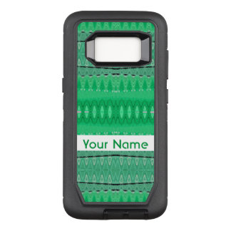 Green Abstract Design OtterBox Defender Samsung Galaxy S8 Case