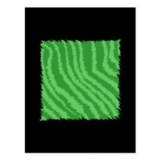 Green Abstract Design. Postcard
