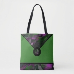 Green Abstract Designer Tote Bag