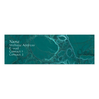 Green Abstract Double-Sided Mini Business Cards (Pack Of 20)