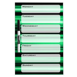 Green Abstract Dry-Erase Whiteboards