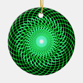 Green abstract eye ornament