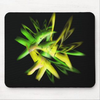 Green abstract flame mouse pads