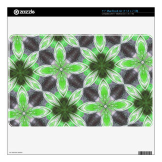 Green abstract Flower Pattern MacBook Air Decal