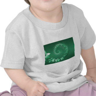 Green Abstract Flowers Tshirts