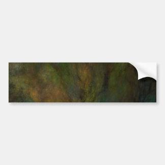 Green Abstract Fractal Background Bumper Sticker