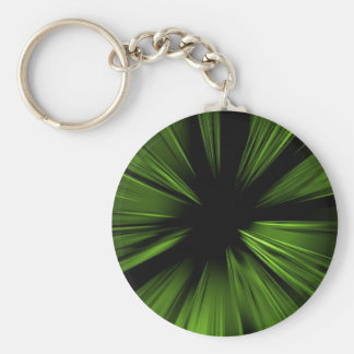 Green abstract fractal keychain
