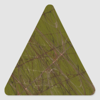 Green Abstract Fractal Triangle Sticker