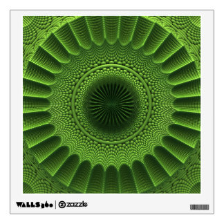 Green Abstract (Fractal) Wall Decal