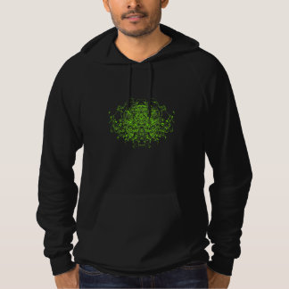 Green Abstract Hoodie