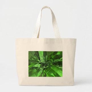 Green Abstract Jumbo Tote Bag
