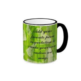 Green Abstract Jungle Watercolors Painting Mugs
