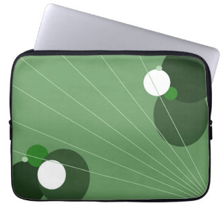 Green Abstract Laptop Computer Sleeves