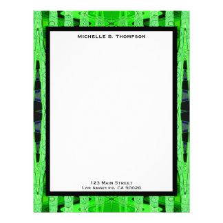 green abstract letterhead