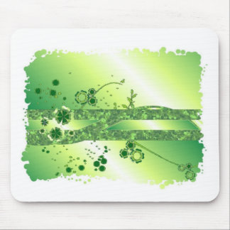 Green abstract mouse pad