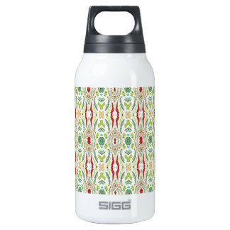 Green Abstract  Nature Shapes Design Insulated Water Bottle