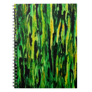 Green Abstract Paint Notebook