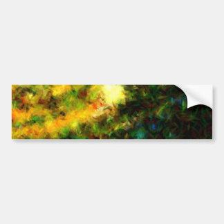 Green Abstract Painting Art Bumper Sticker