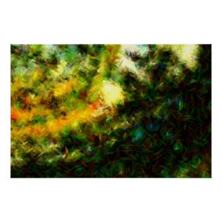 Green Abstract Painting Art Print Poster