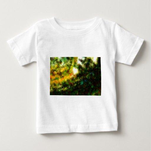 Green Abstract Painting Art Shirt