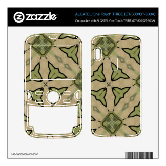 Green Abstract patter ALCATEL Tribe Skin