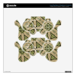Green Abstract patter PS3 Controller Decal
