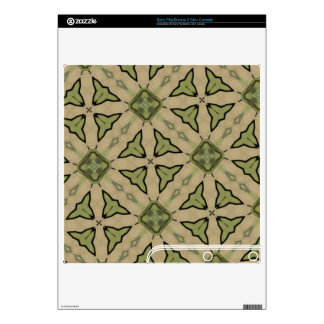 Green Abstract patter Decal For PS3 Slim