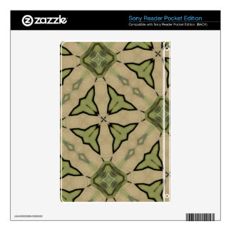 Green Abstract patter Decal For Sony Reader