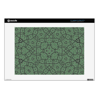 "Green Abstract Pattern 13"" Laptop Skin"