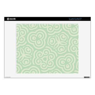 "Green  Abstract Pattern 14"" Laptop Decal"