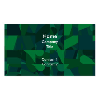 Green Abstract Pattern. Business Cards